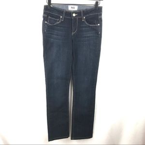 Paige 26 Dark Blue Skyline Straight Jeans